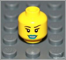 Lego Space x1 Yellow Head Blue Lips Breathing Mask Girl Female Minifigure NEW