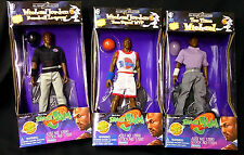 Michael Jordan Space Jam Movie 9 Inch Set of 3 Figures Golf Baseball+ New 1996