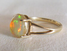 AMAZING LARGE AUSTRALIAN JELLY OPAL RING IN 14 KT GOLD SETTING. SIZE 7