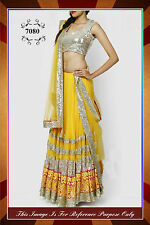 Karvachauth Sale India Bollywood, Designer,Bridal Yellow  Lehenga, Chanya Choli