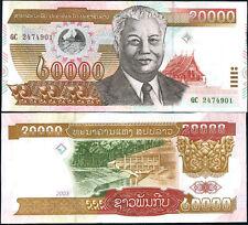 LAOS LAO 20000 20,000 KIP 2003 P 36 CRISP BUT AU-UNC