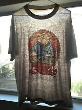 Vintage 80s Monday Mornings paper thin distressed sheer large t-shirt