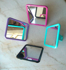 Nice Rectangle Makeup Mirror with Eyelet Stand Ok to Put on Table or Hang Up