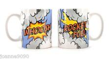 Cerámica de Arte Pop superhéroe toma combustible para cohetes Retro Kids Pascua Cocina Hogar Regalo