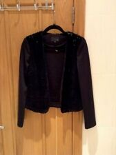 NEXT BLACK Women's Jacket SIZE 10 BLACK SEQUENCE NEW
