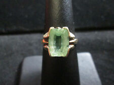 VINTAGE 10K YELLOW GOLD TOPAZ RING SIZE 5.75