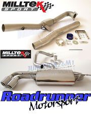 Milltek Audi TT MK2 2.0 TFSI 2WD Turbo Back Exhaust Inc Decat Twin 90mm Jet Tail