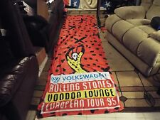 AWESOME RARE VINTAGE 1994 ROLLING STONES CONCERT TOUR VOODOO LOUNGE BANNER TOWEL