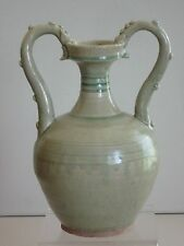 Tang Dynasty Green Glaze Double Dragon Vase
