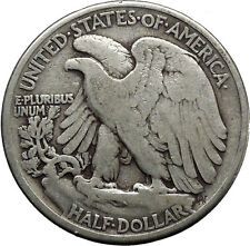 1942 WALKING LIBERTY Half Dollar Bald Eagle United States Silver Coin i45130