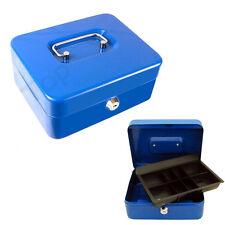 Cassetta Sicurezza In Metallo Porta Valori Soldi Monete Chiave 12,5x9,5x5,cm hsb