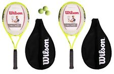Wilson Energy XL 2 x Tennis Racket Set (With Headcovers)+ 3 Tennis Balls RRP £80
