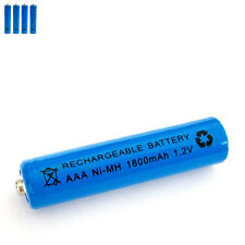 4 pcs AAA 3A 1800mAh 1.2V Ni-MH rechargeable battery Solar Light MP3 RC Blue