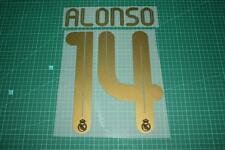 Real Madrid 11/12 #14 ALONSO Homekit / Awaykit Nameset Printing