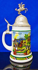 BMF BIERSEIDEL REGIMENTAL MILITARY LIDDED BEER STEIN