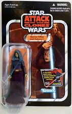 BARRISS OFFEE Star Wars AOTC Vintage Figure Unpunched Sticker Card #VC51 2011