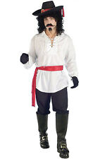 Brand New Swashbuckler Pirate Shirt Adult Costume (White)