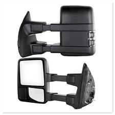 Pair for 99-07 Ford F250-F550 Super Duty Signal Light Power Heat Towing Mirrors