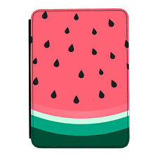Juicy Watermelon Slice Pink Fun iPad Mini 1 2 3 PU Leather Flip Case Cover