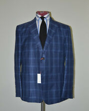 Jack Spade Blue Wool Silk Linen patch pocket blazer Suit Jacket USA made 46 56