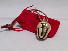 Polar shiny gold brass acorn Santa reindeer  sleigh bell Express from Elf Works