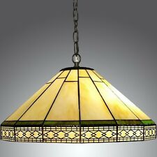Vintage Light Chandelier Ceiling Hanging Lamp Tiffany Style Stained Glass Shade