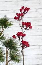 1 Zweig Eberesche Beerenzweig Beerenpick Beeren künstlich Herbst rot Advent