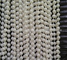 2 Meters 8mm Ivory White Pearl Bead String Trimming Wedding Decoration S8