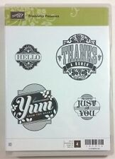 Stampin' Up! Friendship Preserves Clear Rubber Stamp Hello Thanks Yum For You