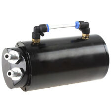 750ML Black Round Aluminum good can Car Oil Catch Reservoir Tank with Hardware