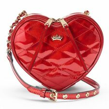 NWT Juicy Couture Heart Crossbody Bag Shiny Red Patent