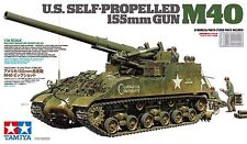 Tamiya 1/35th Scale US M40 155mm Self Propelled Artillery Tank Kit No. 35351