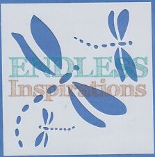 "6""x6"" Endless Inspirations Stencil, Dragonflies - Free US Shipping"