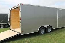 8.5x18 Enclosed Trailer Cargo V-Nose Car Hauler 8 Motorcycle Utility 20 2016