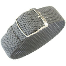 20mm EULIT Panama Grey Tropic Woven Nylon Perlon German Made Watch Band Strap