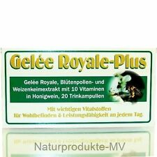 4 Pckg. 9,49EUR/100ml Gelée Royale Plus (4x20 Trinkampullen) Gelee Royal