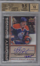 11-12 UD Upper Deck Ryan Nugent-Hopkins Priority Signings RC /25 BGS 9.5 Auto 10
