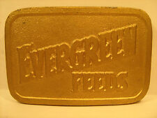 SOLID BRASS Belt Buckle EVERGREEN FEEDS by HIT LINE USA [Y95n]