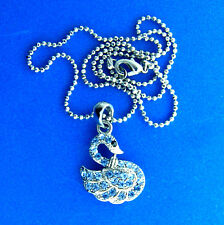 Crystal Swan Pendant Chain Choker Necklace 1x16""