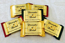 90 PERSONALIZED GOLD FOIL MONOGRAM WEDDING FAVOR LABELS 4 YOUR CHOCOLATE SQUARES