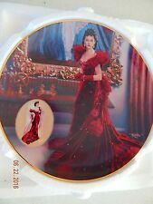 "1993 ""The Red Dress"" Scarlett O'hara Gone With The Wind Plate, Bradford Exchange"