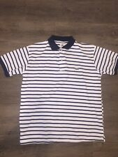 LACOSTE SHORT SLEEVE STRIPED POLO SHIRT MENS 7 LARGE EXCELLENT CONDITION