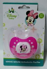 Disney Baby Minnie Mouse Orthodontic Pacifier BPA Free Dark & Light Pink NIP