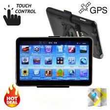"7"" HD Car Truck Navigation GPS 4GB 128MB FM Touch Screen SAT NAV Free 3D Maps"