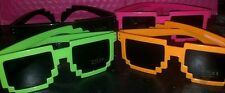 PIXEL SUNGLASSES - RETRO GLASSES - 8 BIT PIXELATED - SQUARE - US SHIPPING - HOT