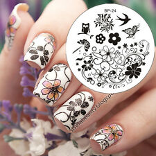 BORN PRETTY BP24 Nail Art Image Stamping Plate Template Spring Flower Swallow