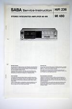 SABA MI 480 Original Amplifier Service-Instruction/Anleitung/Schaltplan o52