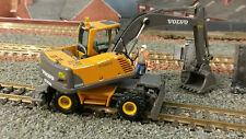 Volvo EW180B Wheeled Rail Repair Excavator Digger 1:87 HO/OO/00 Motorart Model