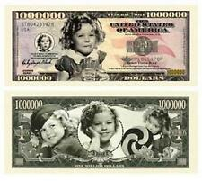 Shirley Temple Million Dollar Bill Collectible Novelty Note