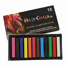 12 HAIR CHALK TEMPORARY HAIR DYE COLOUR SOFT PASTELS SALON KIT UK Seller
